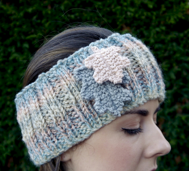 Oak Leaf Ear Muff Head Band