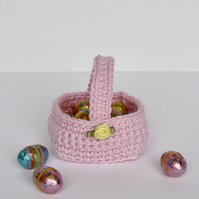 Pink Fillable Mini Gift Basket
