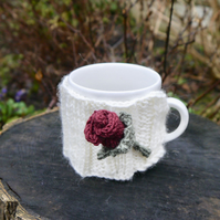 Red Rose Mug Cosy, Valentine Gift
