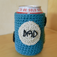 Dad Beer Can Cosy, Gift for Dad, Father's Day Present