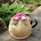 Small Tea Cosy with Rose Pink Flowers, One Cup Teacosy