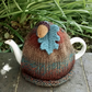 Tea Cosy Marble Acorn and Teal Oak Leaf