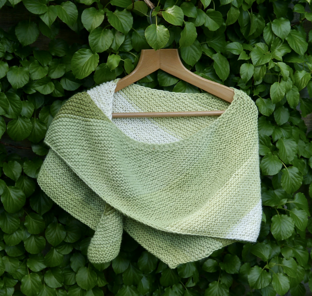 Pistachio Hand Knitted Spring Wrap