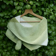 Pistachio Hand Knitted Chunky Wrap