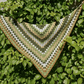 Triangle Crochet Scarf With Tassels, Autumn Wrap