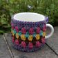 Crochet Mug Cosy, Retro Stripes