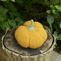 Large Knitted Autumn Pumpkin, Halloween Decor, Fall Decorations