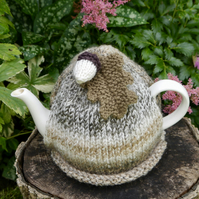 Autumn Marble Tea Cosy with Oak Leaf and Acorn