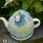 Teal and Grey Tea Cosy with Acorn and Oak Leaf, Autumn Teacosy
