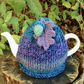 Blue Marble Tea Cosy with Acorn and Oak Leaf