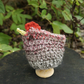 Chicken Egg Cosy, Red and Brown