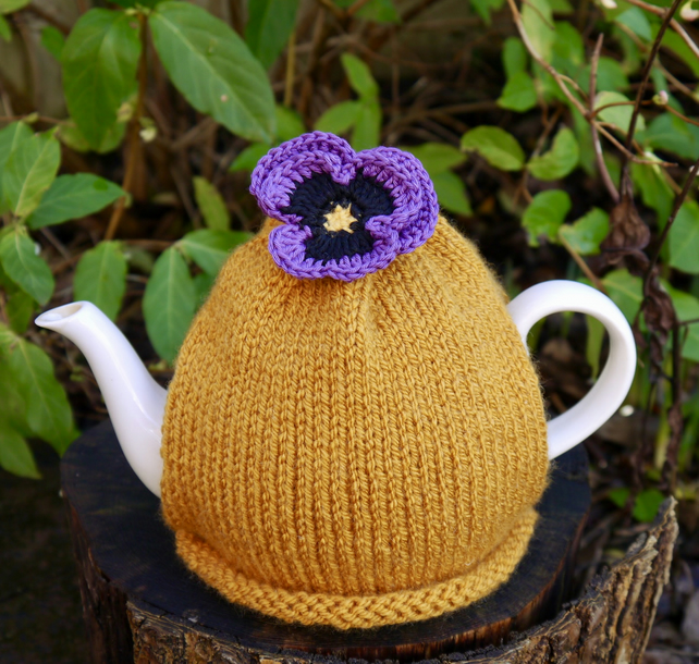 Purple Pansy Tea Cosy