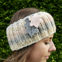 Oak Leaf Ear Warmers, Headband