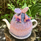 Fuchsia Flower Tea Cosy, Peach and Purple Fuchsias