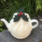 Christmas Holly Tea Cosy, Tea Cozy with Holly Leaves and Berries