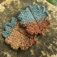 Oak Leaf Coasters, Set of Two Autumn Leaf Drinks Mats