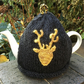 Deer Head Tea Cosy, Black Tea Cozy with Stag Head