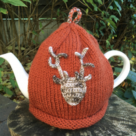 Stag Head Tea Cosy, Deer Tea Cozy