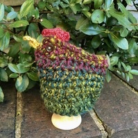 Rustic Chicken Egg Cosy, Crochet Hen Egg Cozy
