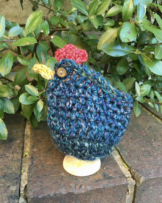 Teal Chicken Egg Cosy, Easter Chicken Egg Cozy
