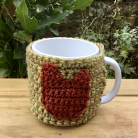 Rustic Chicken Mug Cosy, Recycled Yarn