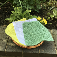 Spring Cotton Facecloths, Gift Set of Three