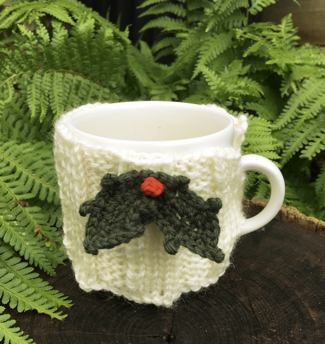 Christmas Holly Mug Cosy