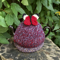 Crochet Butterfly Tea Cosy, Small One Cup Teapot Cozy