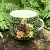 Acorn Mug Cosy, Fall Decoration