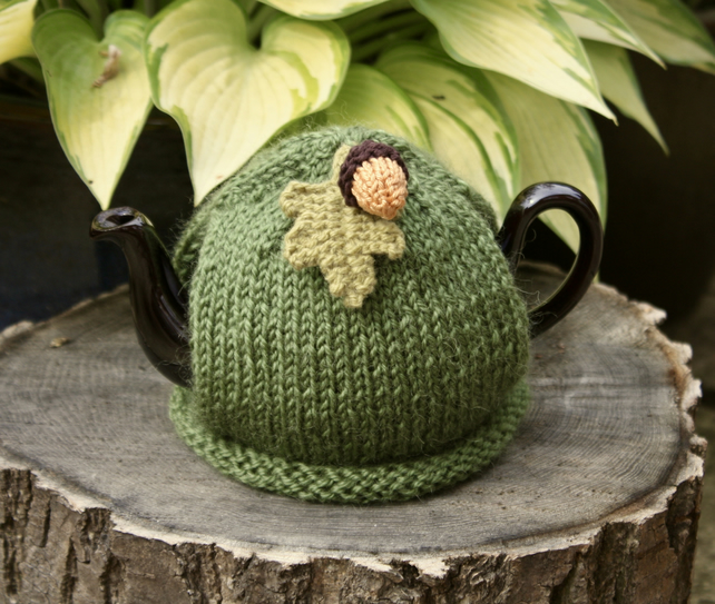 One Cup Autumnal Tea Cosy