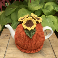 Summer Flower Tea Cosy, Sunflowers Teapot Cozy