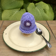 Lilac Flower Egg Cosy, Easter Decoration