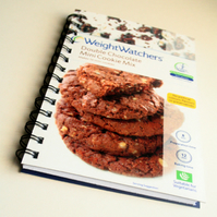 Recycled Weight Watcher Double Chocolate Chip Cookie Mix Notebook / Journal / You Can Use It as a Diary or Planner
