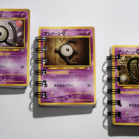 3x Recycled Japanese Pokemon Unknown NEO Pocket Mini Notebook Set