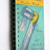 Recycled Vintage Clothes Brush Notebook or Journal Empire No 66 Fuly Automatic