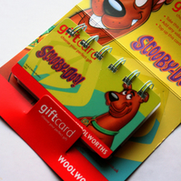 Recycled Scooby Doo Gift Card Mini Book - The Ghost Hunters Findings pocket pad