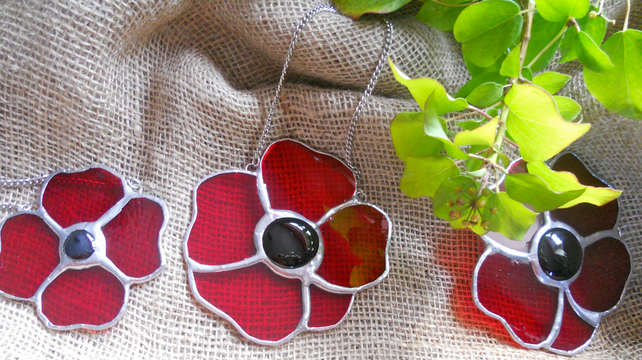 3 Remembrance Day Poppy set