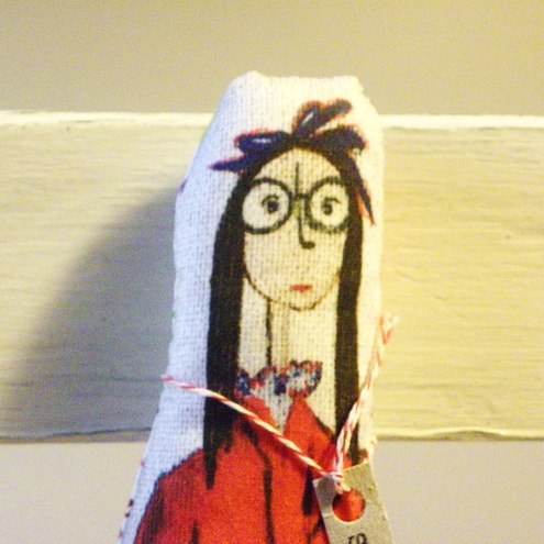 Shy Andie, Cloth art for your wall or shelf.