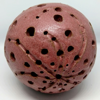 small stoneware sculpted orb 6