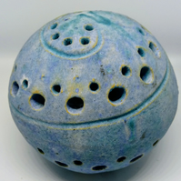 small stoneware sculpted orb 3