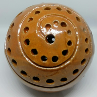 small stoneware sculpted orb 12