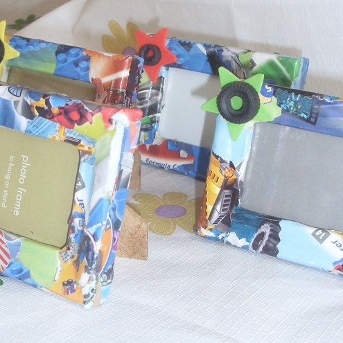 Sets of 4 funky mini photo frames