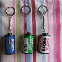 Up-Cycled 35mm Film Keyrings