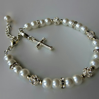 First Communion Gift, Girls First Communion Jewelry, First Communion bracelet