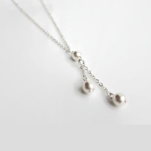 Pearl drop necklace, pearl bridesmaids gift, best friend gift, mothers necklace