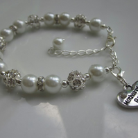 Mother of the bride bracelet, mother of the groom gift