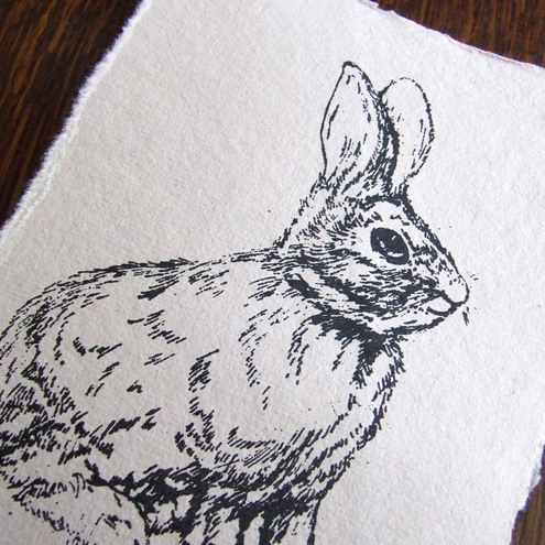 Rabbit Mini Gocco Print