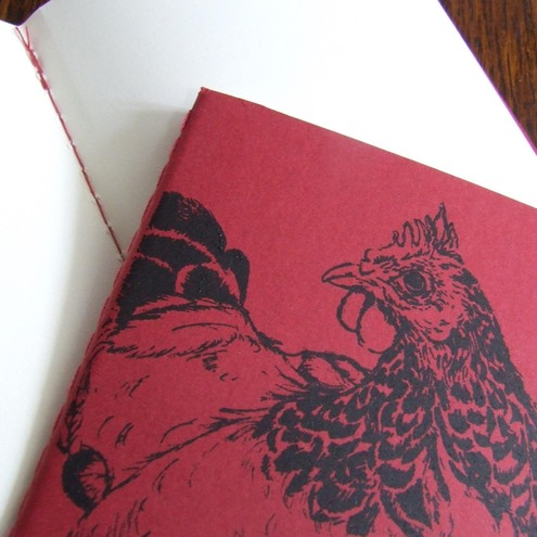Red Hen Gocco Printed Chicken Pocket Moleskine Cahier Notebook