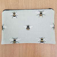 Bee make up bag storage pouch