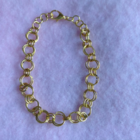 Rose Gold Plated Chain Maille Bracelet.